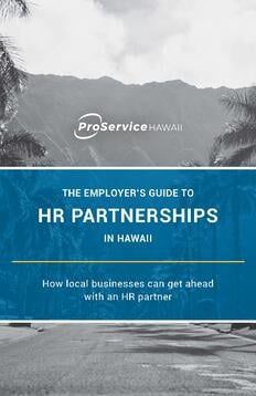 The Benefits of HR Partnerships in Hawaii - ProSerivce Hawaii Ebook_Page_01
