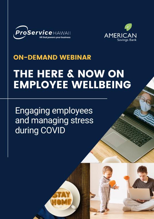 Employee Wellbeing Webinar 9-23-20 On-Demand