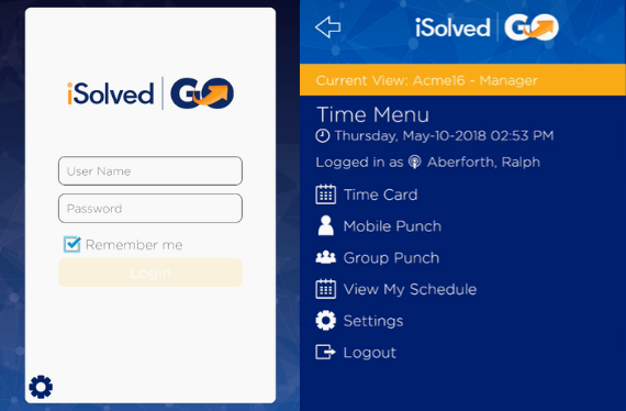 Both managers and employees can log-in to iSolved Go.